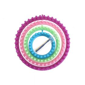 Knitting rings with needle / set / round / 4pcs
