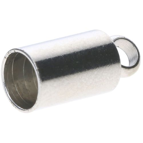 End cap / surgical steel / 11x6x6mm / silver / hole 5mm / 2pcs
