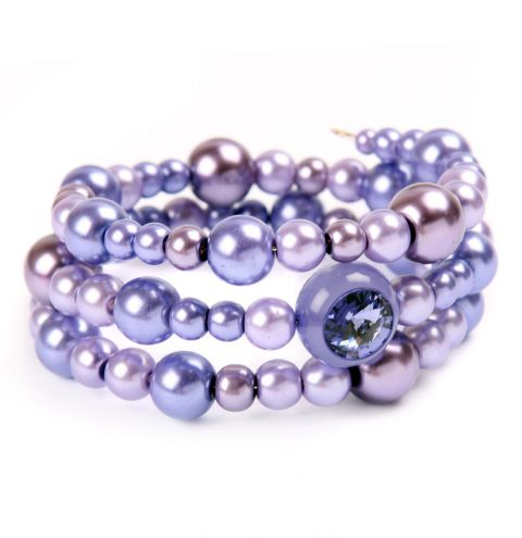 Purple 'Crystal Orb' Bracelet