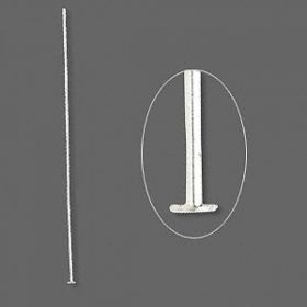 Silver-plated headpins 0.7x60mm