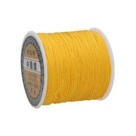 Macramé™ / Macramé cord / nylon / 0.8mm / dark yellow / 100m