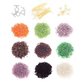 Gold & Silver Plated Findings & Seed Bead Bundle 12 x Assorted Packs