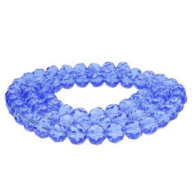 CrystaLove™ crystals / glass  / faceted round / 8mm / royal blue / transparent / 65pcs