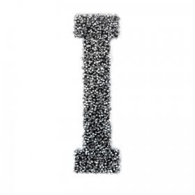 Swarovski Crystal Letter 'I' Self-Adhesive Fabric-It Black CAL Pk1