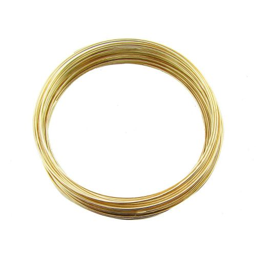 Memory wire / surgical steel / diameter 55mm / gold plated / wire 0.6mm / 40 loops