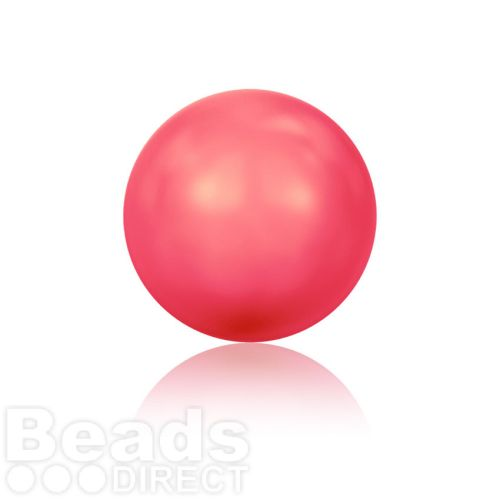 5810 Swarovski Glass Pearls 6mm Crystal Neon Red Pk500