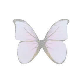Butterfly wings / organza / 31x43mm / light pink / 4pcs