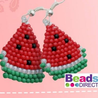How to make Watermelon Earrings - Brick Stitch Tutorial