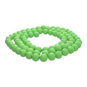 Milly™ / round / 10mm / neon green / 80pcs