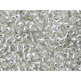 TOHO™ Round 15/0 / Silver Lined / Crystal / 10g / ~1400pcs