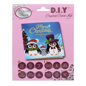 Craft Buddy 'Penguin Family' Crystal Card Kit