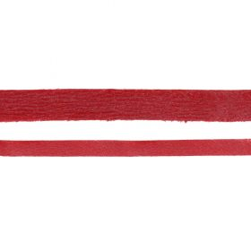 Metallic Red Flat Real Nappa Leather Cord 5mm 2metres