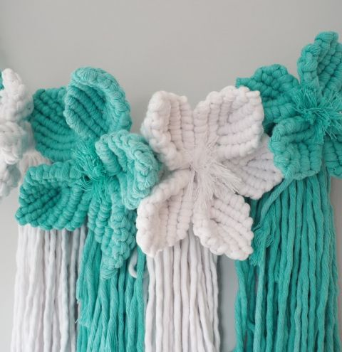 How to make a flower from cotton cord
