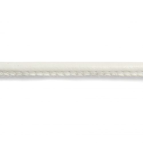X-Faux Leather in Ivory 6mm 1 Metre