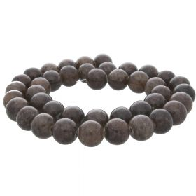 Jade / round / 10mm / dark brown / 40pcs