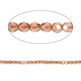 Czech Fire Polished 4mm Luster Pink Pk100