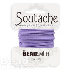 Lavender Polyester Soutache Cord Beadsmith 3yds