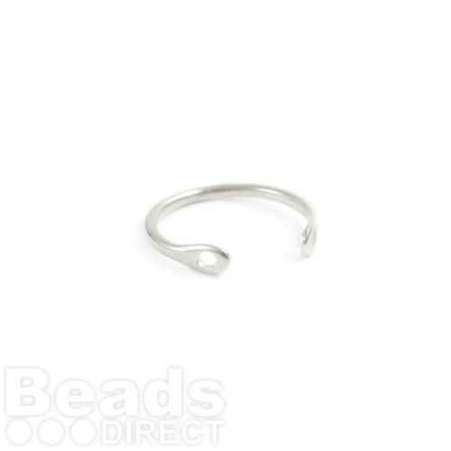 Antique Silver Brass Ring Base Two Hole 2x20mm Pk1