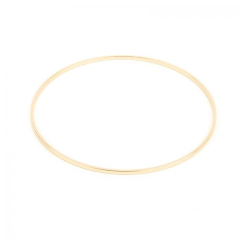 Gold Plated Flat Wire Round Bangle 63mm Pk1