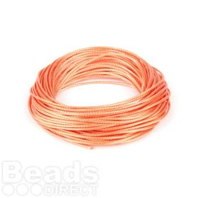 Shiny Coated Braiding Cord 1mm Peach 10m