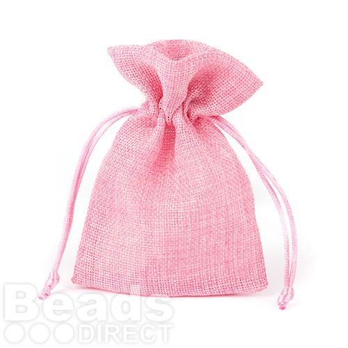 X-Pink Polyester Jewellery Pouch 100x140mm Pk1