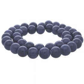 Jade / round / 12mm / dark purple / 34pcs