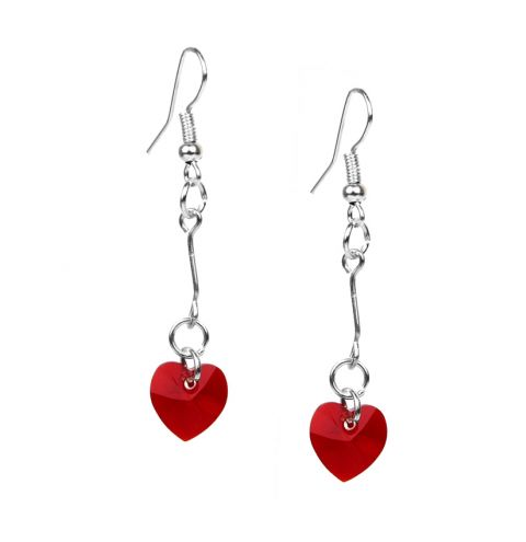 Valentine Earrings made with Swarovski