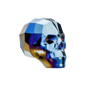 5750 Swarovski Crystal Skull Bead 13mm Crystal Metallic Blue Pk1