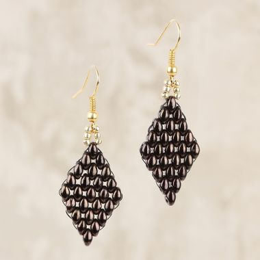 'Golden Brown' Earrings | Mini-Make Monday
