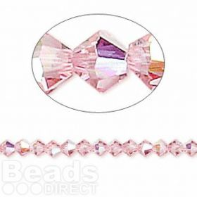 5328 Swarovski Crystal Bicones Xillion 4mm Light Rose AB Pk24