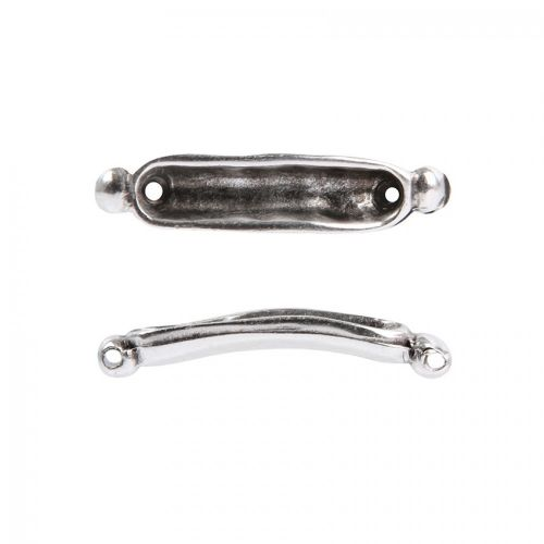 Antique Silver plated Zamak Gondola Connector for 4mm Beads Pack of 1