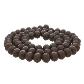 Milly™ / rondelle / 9x12mm / dark brown / 70pcs