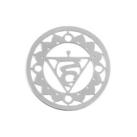 Sterling Silver 925 'Ether' Chakra Connector 24mm Pk1