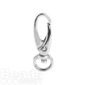 Titanium Plated Copper Swivel Lobster Clasp 25mm Pk1