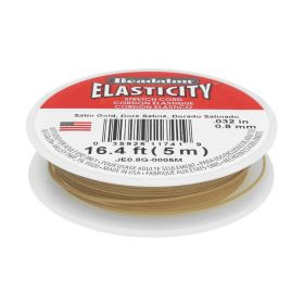 Beadalon ™ / Elasticity / 0.8mm / Satin Gold / 5m