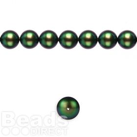 5810 Swarovski Glass Pearl 6mm Crystal Scarabaeus Green Pk50