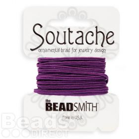 Ruby Glint Polyester Soutache Cord Beadsmith 3yds