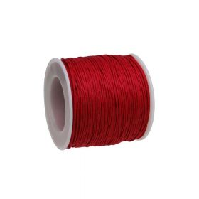 Waxed cord / red / 1.0mm / 72m