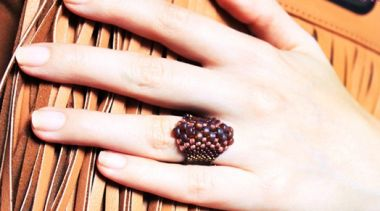 How to make a ring from beads - Even peyote stitch