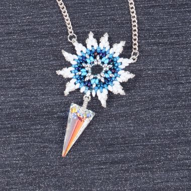 Blue Night Icicle Necklace
