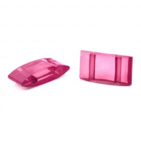 Pink Acrylic Carrier Duo Beads 18x9x5mm Pk10