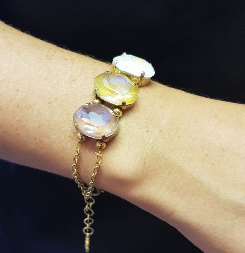 HOW TO MAKE A PETITE SPARKLY BRACELET - A JEWELLERY MAKING TUTORIAL
