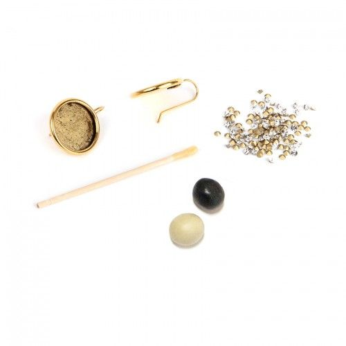 Antique Gold Plated Nunn Design Earring Kit with Clay & Crystals