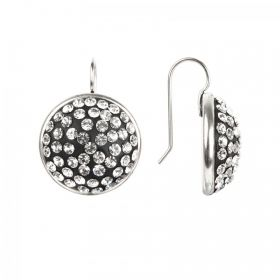 Antique Silver Plated Nunn Design Earring Kit with Clay & Crystals