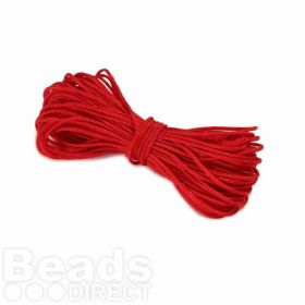 Waxed Nylon Cord 1.5mm x 9m Red
