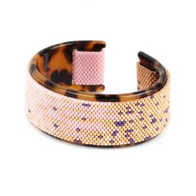Beads Direct Strawberry Melt Toho Aiko Tortoise Cuff Kit