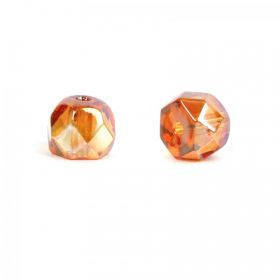 Preciosa Czech Glass Hill Bead Topaz AB 6mm Pk30