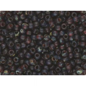 TOHO™ / Round 8/0 / HYBRID Transparent Frosted Picasso / Siam Ruby / 10g / ~ 300pcs