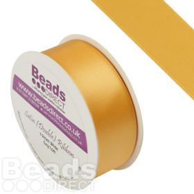 Yellow Gold Double Satin 19mm Ribbon Sold on a 5 Metre Reel