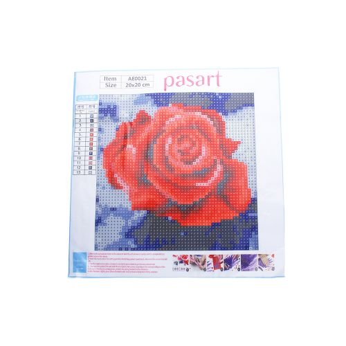 Diamond painting / mosaic / rose / 20x20cm / 1pcs